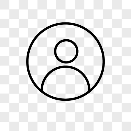 Icône de vecteur de profil pic isolé sur fond transparent, concept de logo profil pic pic