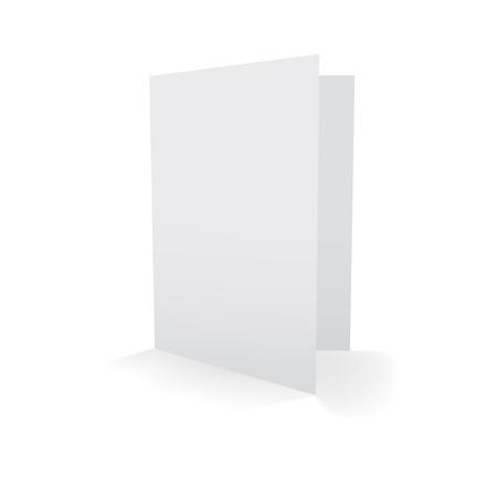 felicitation: blank card, isolated on white
