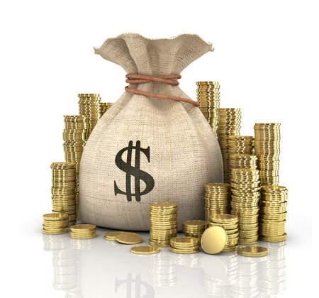 earn money: coins Stock Photo