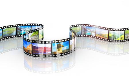 imagen de un bonito fondo de tira de película