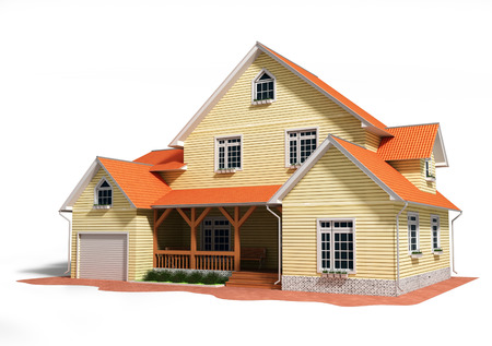 3d house rendered generic
