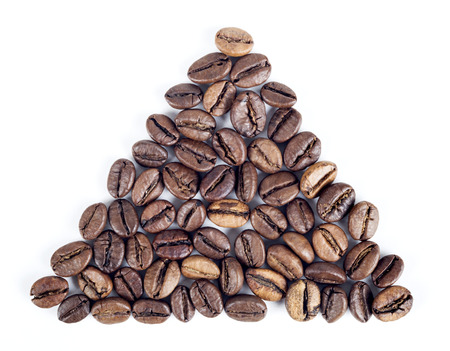 A pound of well roasted arabica coffee beans photo