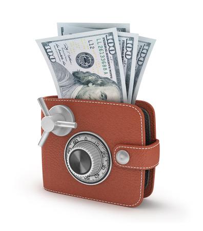 bankomat: ATM cash point slot in the wallet