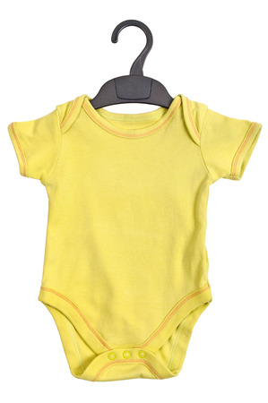 baby clothes: Yellow Baby Ringer T shirt with hanger