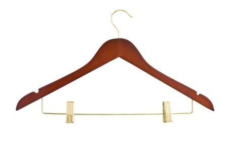 clothe: hanger on clothe Stock Photo