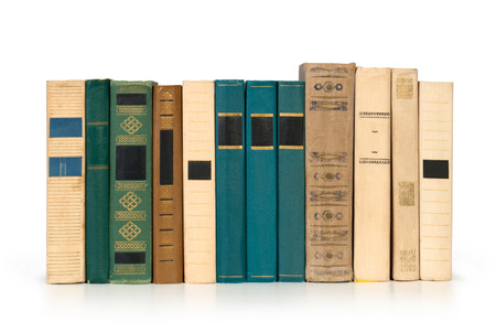 stack of Old books isolated on white Reklamní fotografie