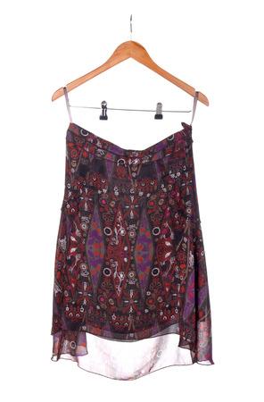 ensemble: skirt on hanger isolated on white