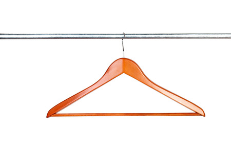 clothing rack: hanger on clothes