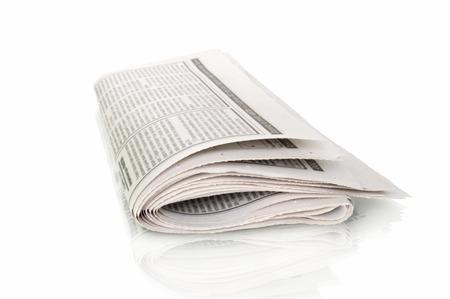 broadsheet: newspapers on white background Stock Photo