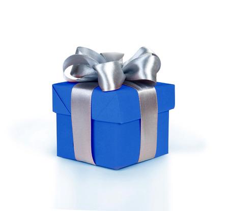 Boîte de cadeau avec le ruban Banque d'images - 29784371