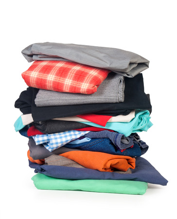 pile of clothes: clothing Stock Photo