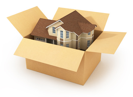 Moving house. Real estate market. Three-dimensional image. photo
