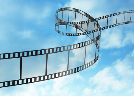 movie film reel: Film Strip Stock Photo