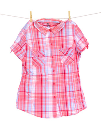 Colour shirt on clothespins photo