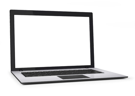 laptop screen: Laptop isolated on white background