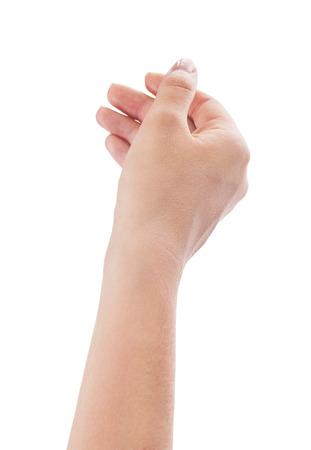 woman s hand holding something photo