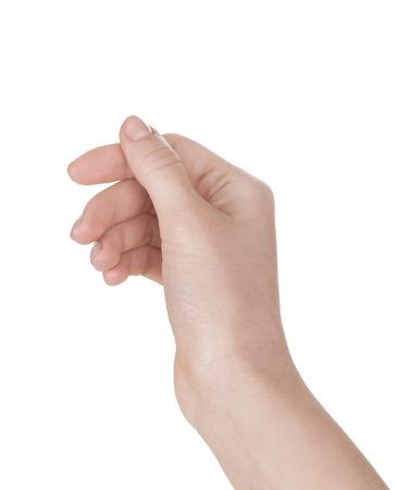 Mujer s mano que sostiene algo Foto de archivo - 30242818