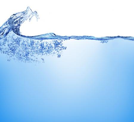 Burbujas de agua y de aire sobre fondo blanco Foto de archivo - 30243234
