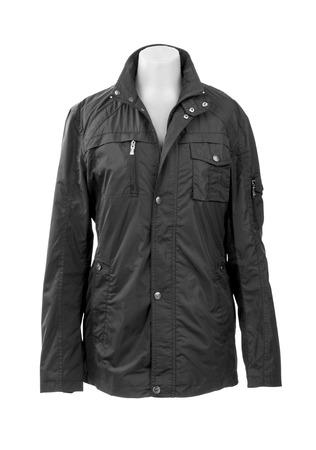jacket on mannequin on white background photo
