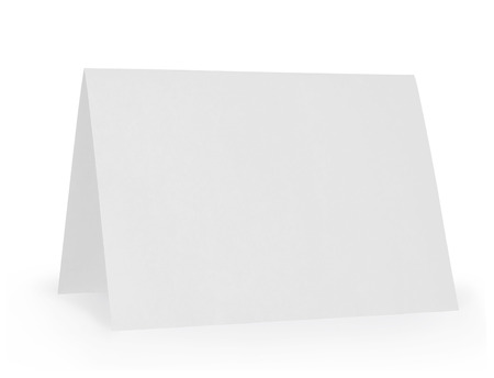 white card: Table Tent