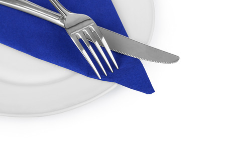 knife and fork with plate photo