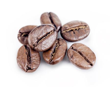 cafe colombiano: granos de café Foto de archivo