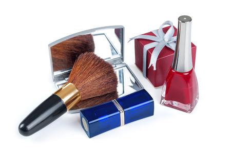 blusher: make-up blusher