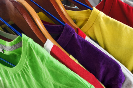 colorful t-shirt photo