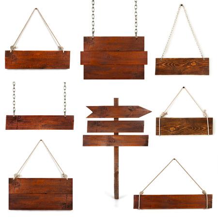 Planche de bois suspendus sur blanc Banque d'images - 31219257