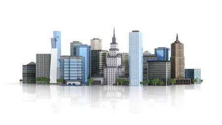 3d rendered illustration of a futuristic city Reklamní fotografie - 31630221
