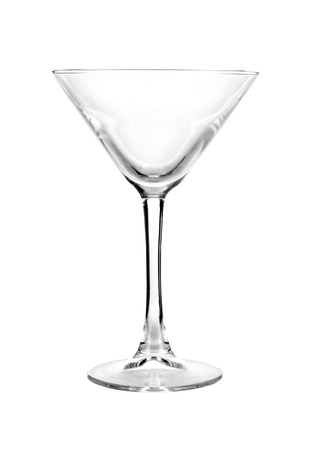 bar ware: Classic martini glass, bar ware, necessary accessories for parties, hilarity symbol Stock Photo