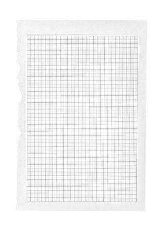 one sheet: Un foglio di carta foderato strappato .isolated, percorso di clipping Archivio Fotografico