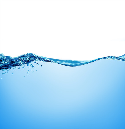 Burbujas de agua y de aire sobre fondo blanco con espacio para el texto Foto de archivo - 32323234