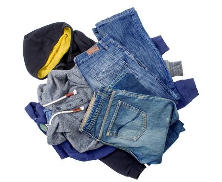 heap clothes Stock Photo