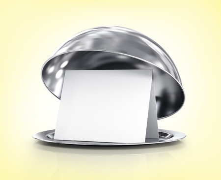 Restaurant cloche with lid on a  background photo