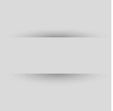 White Paper Banner - blank white paper banner with shadows, on gray background