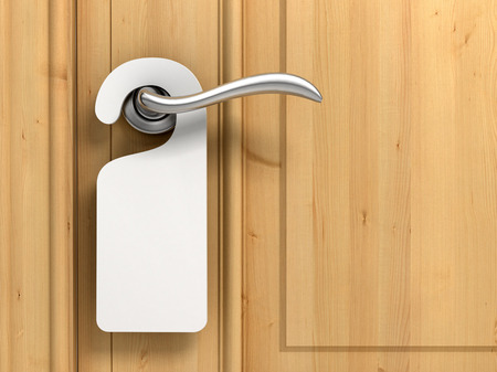 lege deur niet storen bordje