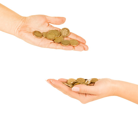 cheapness: Hands with coins