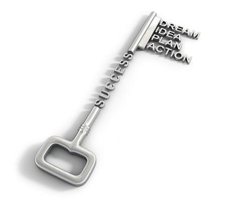 Big key with word. Success concept Foto de archivo