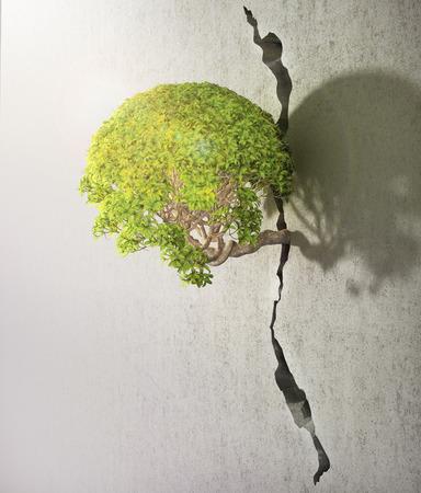 Árbol se libera. Buen concepto de la libertad y el concepto de éxito.