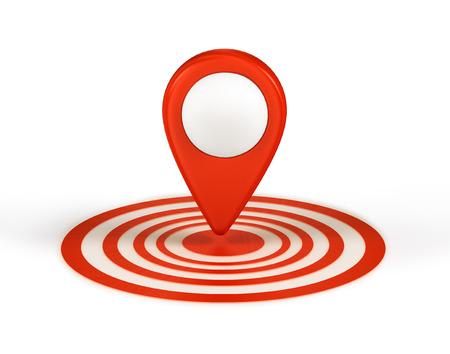 gloss: Shiny gloss red Map pointer icon. Stock Photo