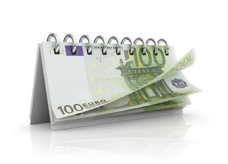 kalendarz: Kalendarz z euro rachunki.