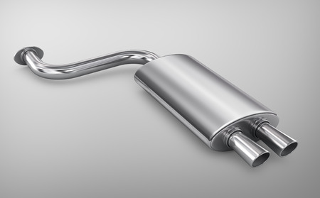 Car Exhaust Pipe. Banco de Imagens