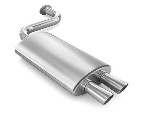車の排気管。