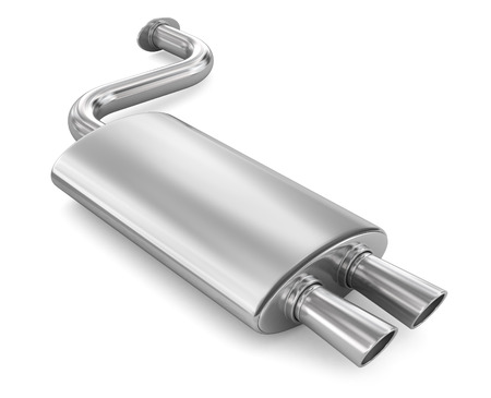 exhaust: Car Exhaust Pipe. Stock Photo