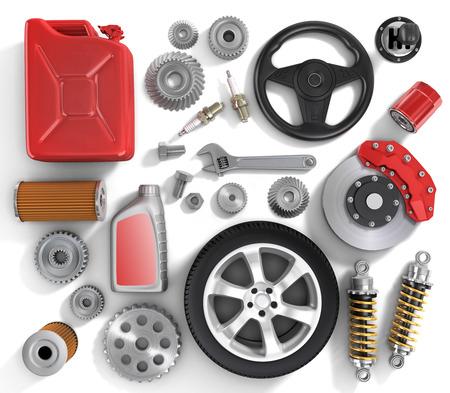 car parts: Set of parts of car.