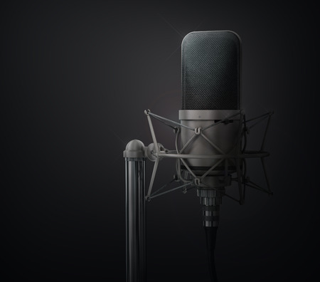 mike: Microphone. Speaker concept. Stock Photo