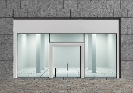 entrances: Modern Empty Store Front with Big Windows