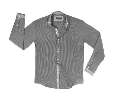 v neck: Shirt isolated on a white background