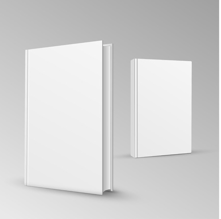 blank book: Blank book cover vector illustration gradient mesh.